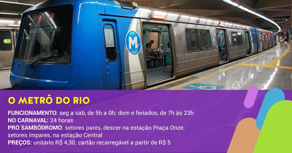 Metro Rio durante o carnaval